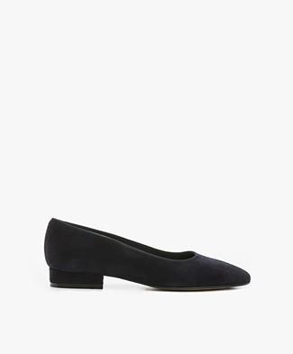 Panara Suede Ballet Flats - Dark Navy