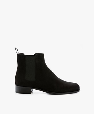 Panara Chelsea Suede Leather Boots - Black