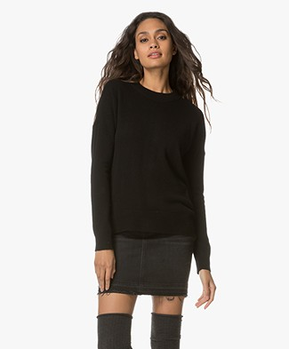 Denham Jazmin Pure Cashmere Sweater - Shadow Black