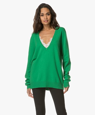 extreme cashmere N°38 Be Low Cashmere V-neck Sweater - Pom