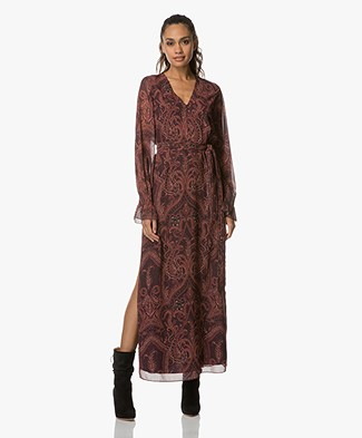 FWSS  Trine Chiffon Maxi Dress - Bordeaux Paisley