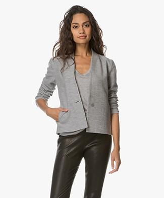 Filippa K Erin Jersey Jacket - Grijs Mêlee