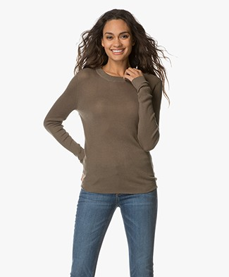 Filippa K Slim Rib Knit Top - Khaki Green
