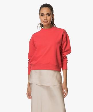 Filippa K Soft Sport Sweat Shirt - Scarlet