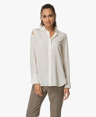 Rag & Bone Hana Silk Blouse - Blanc