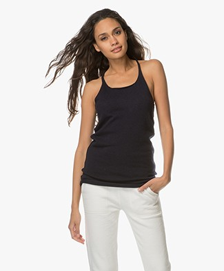 extreme cashmere N°58 Invisible Cashmere Tanktop - Navy