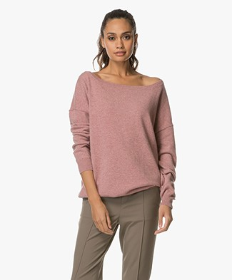 extreme cashmere n°59 Cashmere Boothals Trui - Jelly