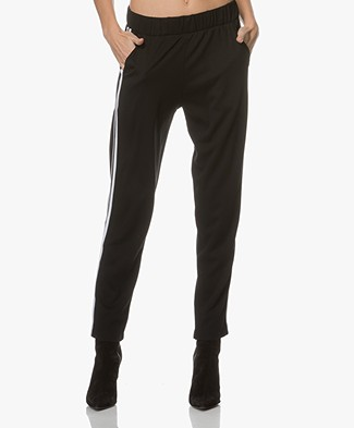 Baukjen Millie Contrast Sweatpants - Caviar Black with White