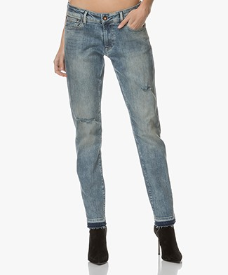 Denham Monroe Girlfriend Fit Jeans - Vintage Blauw