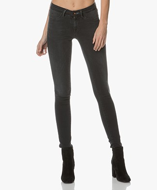 Denham Spray Skinny Jeans - Washed Black