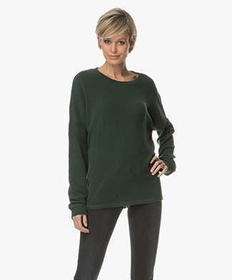 Denham Sweater Emmanuella Cotton Fleece - Antique Moss