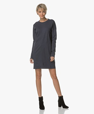 Denham Unite Jersey Dress - Dark Navy
