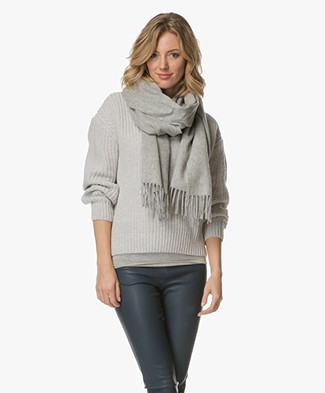 Filippa K Cashmere Blend Scarf - Light Grey