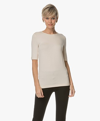 Joseph Elbow Mid-length Sleeve T-shirt - Pearl