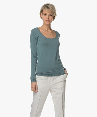 Majestic Long Sleeve with Round Neck - Blue Corse