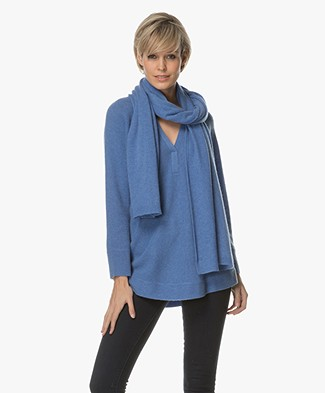 Repeat Cashmere Scarf - Blue