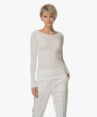 Filippa K Open Neck Rib Top - Off-white