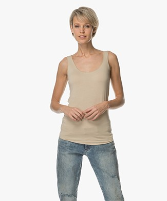 Majestic Soft Touch Jersey Tank Top - Dune