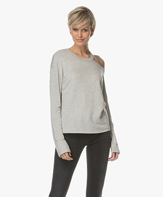 Rag & Bone Sky Cut-out Long Sleeve - Heather Grey