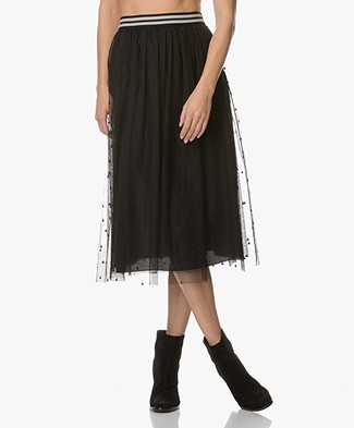 BOSS Orange Batull Tule Midi Skirt - Black
