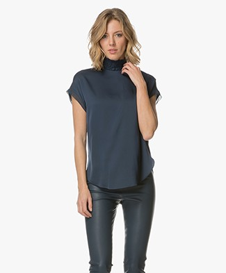 By Malene Birger Attimalla Blouse Top - Blue Velvet