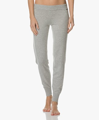 Calvin Klein Knitted Viscose Blend Sweatpants - Grey Heather
