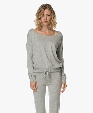 Calvin Klein Knitted Viscose Blend Pullover - Grey Heather