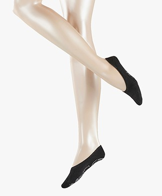 FALKE Cosy Ballerina Women No Show Sokken - Zwart