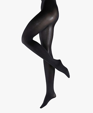 FALKE Sensual Cotton 80 Den Panty - Black