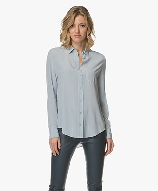 Joseph New Garcon Silk Shirt - Powder Blue