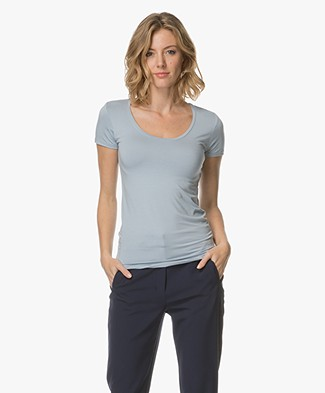 Majestic Soft Touch Jersey T-shirt - Parisian Blue