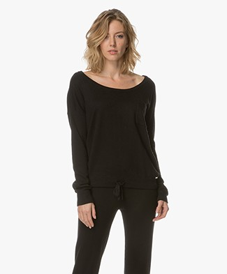 Calvin Klein Knitted Viscose Blend Pullover - Black