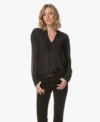Filippa K Flowy Blouse - Black