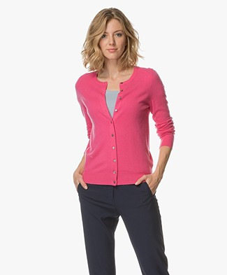 Repeat Cashmere Fine Knit Cardigan - Magenta