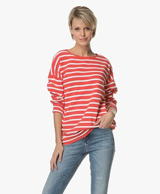 Drykorn Florrie Striped Sweater - Red/White