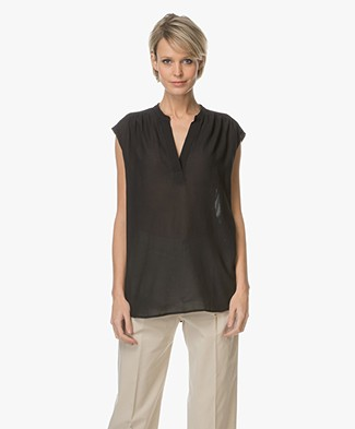 Filippa K Sleeveless Feminine Blouse - Black