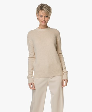 Joseph Cashmere Pullover with Open Back - Beige