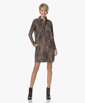 JapanTKY Lyni Shirt Dress with Print - Animal