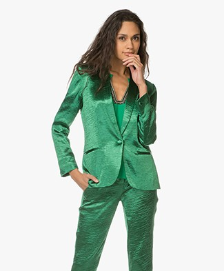 Ba&sh Carina Blazer with Metallic Effect - Green
