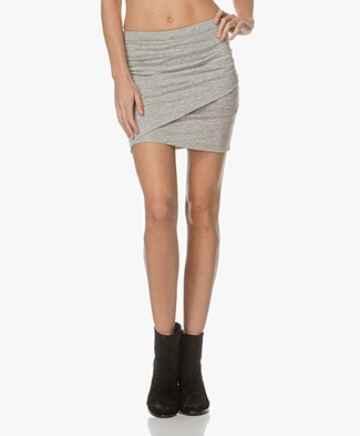 IRO Bamma Jersey Mini Skirt - Light Grey