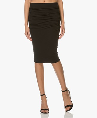 James Perse Jersey Pencil Skirt - Black