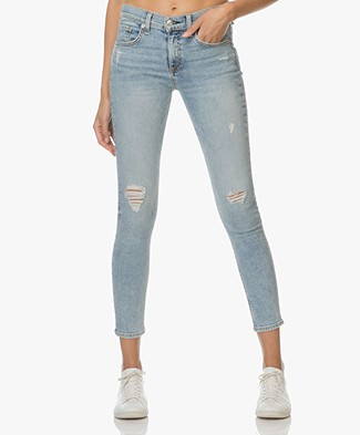Rag & Bone / Jean Distressed Ankle Skinny Jeans - Double
