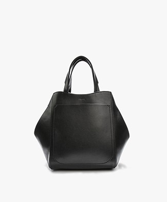 Filippa K Shelby Mini Bucket Leather Bag - Zwart
