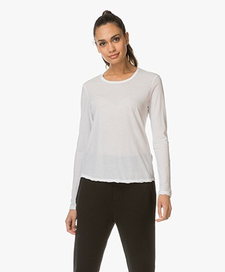 James Perse Longsleeve in Extrafijne Jersey - Wit