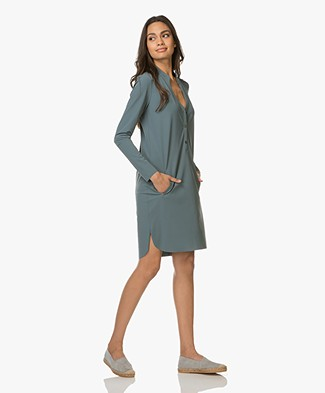 JapanTKY Yts Jersey Shirt Dress - Squalo