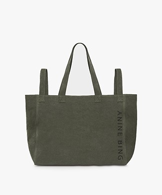 Anine Bing Camille Tote - Military Canvas