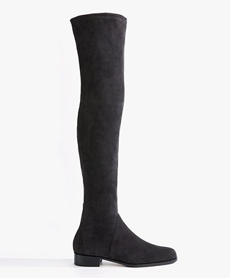 Panara Suede Over the Knee Boots - Fumo