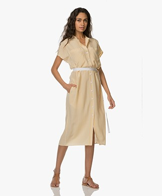 Joseph Issac Deck Chair Stripe Tunic Dress - Custard