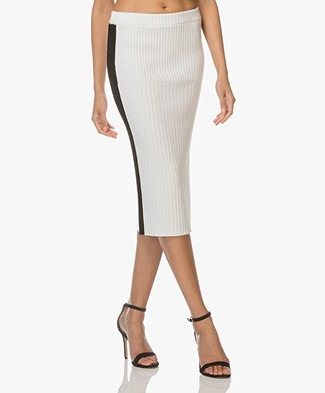 Joseph Rib Knitted Pencil Skirt - Ecru