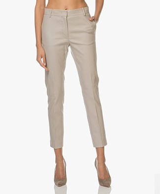 Joseph Zoom Stretch Leather Pants - Greige